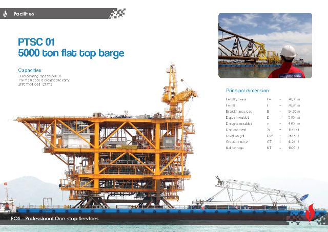 PTSC Offshore Services-Dịch vụ Sà lan vận chuyển
